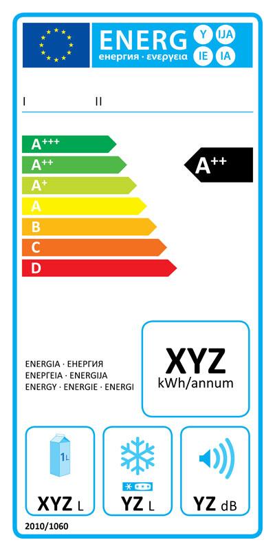 étiquette énergétique réfrigérateur